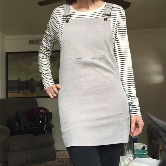 15d68a25e1 Hengsheng Dresses   Grey Corduroy Overall Dress   Poshmark